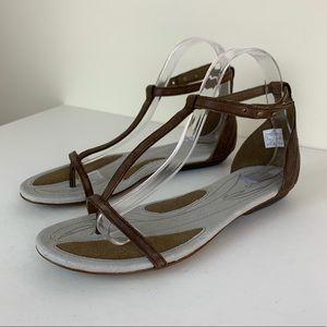 Merrill Clove Performance Sandal Brown Leather 8